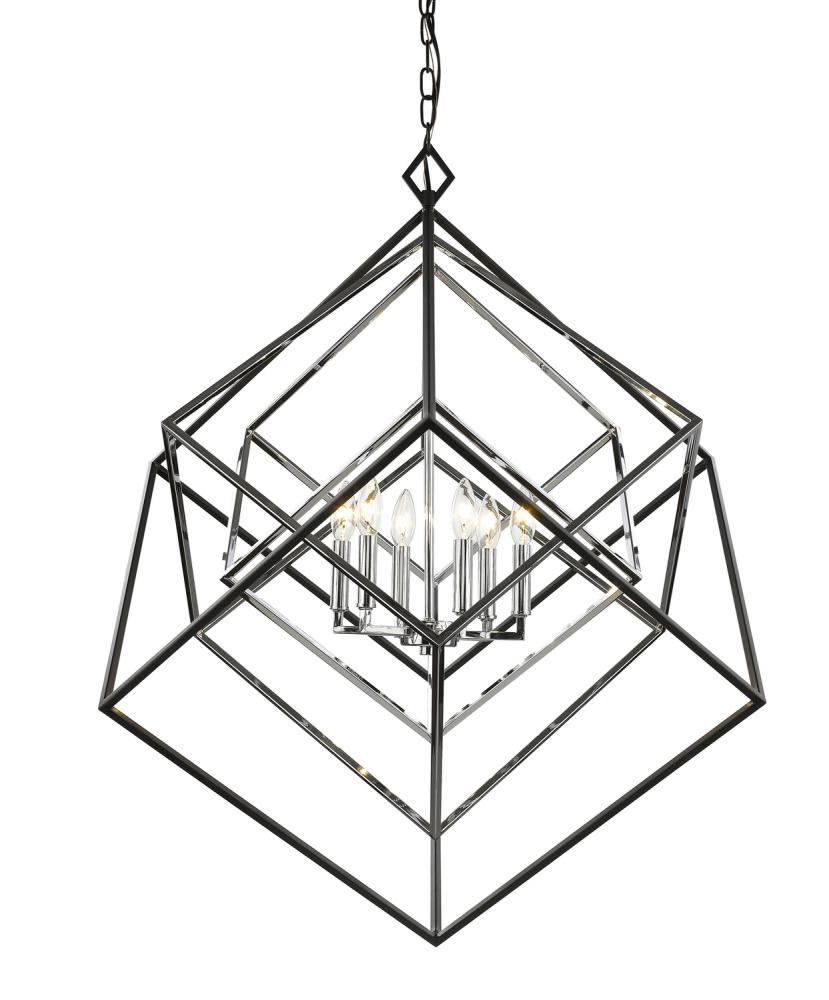 6 light chandelier   304ezml